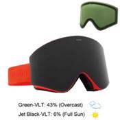 Electric EGX Goggles 2016, Solid Orange-Jet Black + Bonus Lens, medium