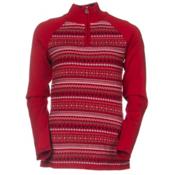 Meister Jordana Womens Sweater, Chili Red-Winter White, medium