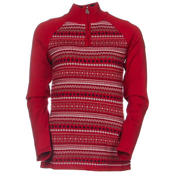Meister Jordana Womens Sweater, Chili Red-Winter White, 600