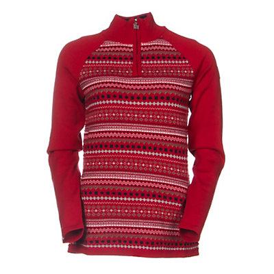 Meister Jordana Womens Sweater, Chili Red-Winter White, viewer