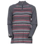 Meister Jordana Womens Sweater, Heather Gray-Persimmon, medium
