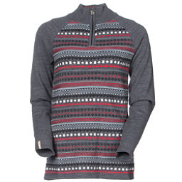 Meister Jordana Womens Sweater, Heather Gray-Persimmon, 256