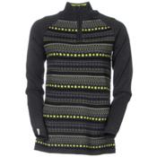 Meister Jordana Womens Sweater, Charcoal-Heather-Lime, medium