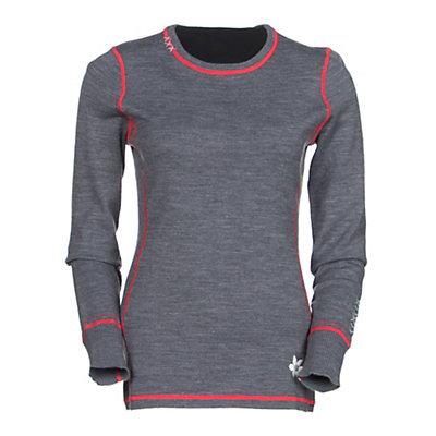 Meister Kiss Me Womens Sweater, Robin-Heather Gray, viewer