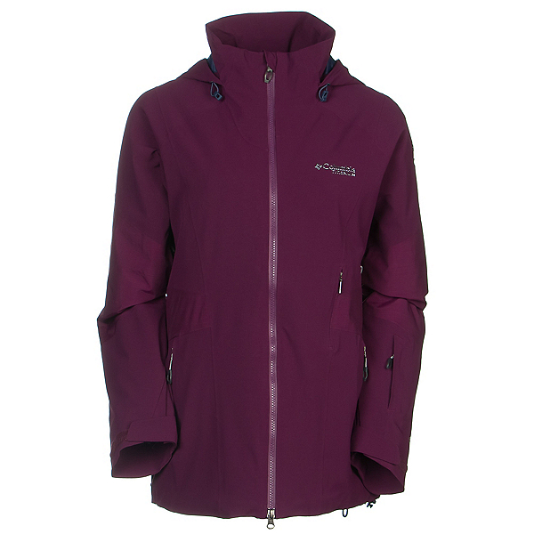 Columbia Carvin Womens Shell Ski Jacket, Purple Dahlia, 600