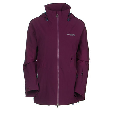 Columbia Carvin Womens Shell Ski Jacket, Purple Dahlia, viewer