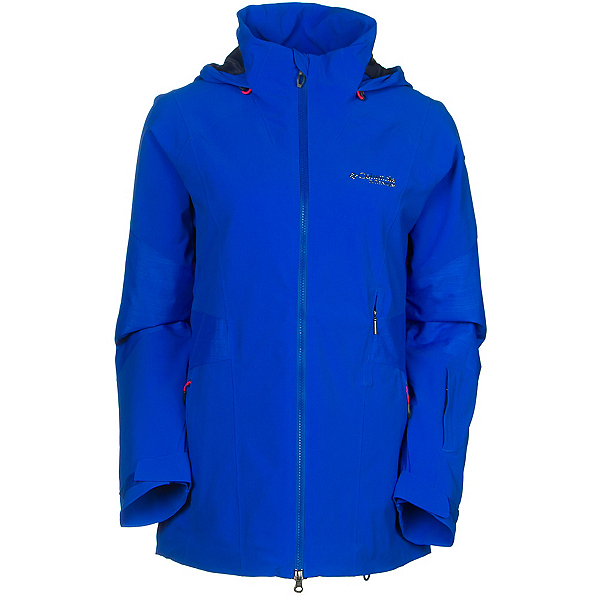 Columbia Carvin Womens Shell Ski Jacket, Blue Macaw, 600