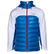 Columbia Heatzone 1000 TurboDown Mens Insulated Ski Jacket, White-Hyper Blue, medium