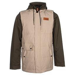 Oakley Lowball BioZone Down Mens Insulated Snowboard Jacket, New Khaki, 256
