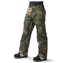 Oakley Cascade BioZone Insulated Mens Snowboard Pants, Herb Smoke, 256