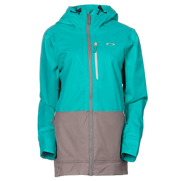 Oakley Huckleberry BioZone Womens Shell Snowboard Jacket, Peacock, 600