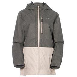 Oakley Huckleberry BioZone Womens Shell Snowboard Jacket, Herb, 256