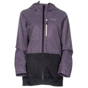 Oakley Huckleberry BioZone Womens Shell Snowboard Jacket, Purple Shade, medium