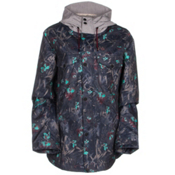 Oakley Charlie 2 BioZone Womens Insulated Snowboard Jacket, Navy Floral, medium