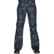 Oakley Tippy Toe BioZone Insulated Womens Snowboard Pants, Navy Floral, medium