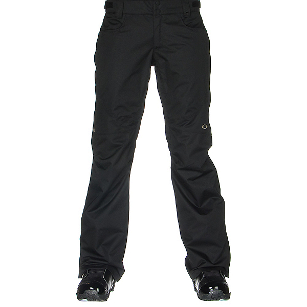 Oakley Tippy Toe BioZone Insulated Womens Snowboard Pants, Jet Black, 600