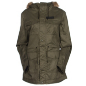 Oakley Tamarack w/Faux Fur Womens Jacket, Herb, medium
