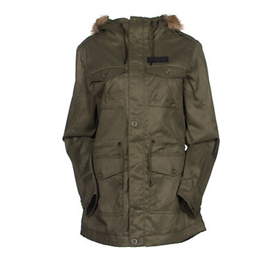 Oakley Tamarack w/Faux Fur Womens Jacket, Jet Black, viewer