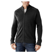 SmartWool Pioneer Ridge Full Zip Mens Sweater, Charcoal Heather, medium