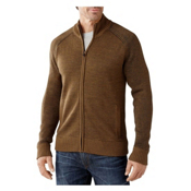 SmartWool Pioneer Ridge Full Zip Mens Sweater, Caramel Heather, medium