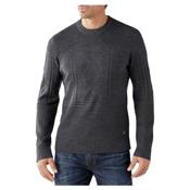 SmartWool Cheyenne Creek Cable Mens Sweater, Medium Gray Heather, medium
