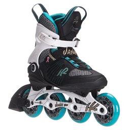 K2 Alexis Pro 84 Womens Inline Skates, White-Blue-Gold, 256