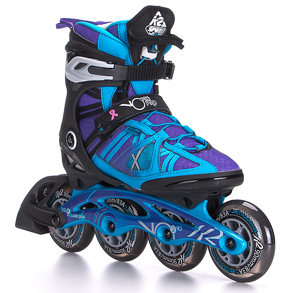K2 VO2 90 Pro Womens Inline Skates 2017, Black-Blue-Purple, 600