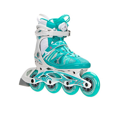 K2 VO2 90 Boa Womens Inline Skates, Turquoise-White, viewer
