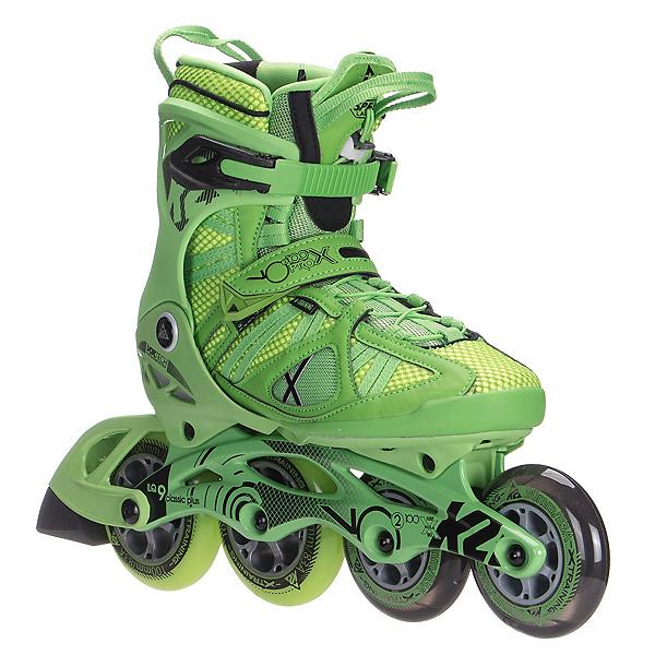 K2 VO2 100 X Pro Inline Skates, Green-Yellow, 600