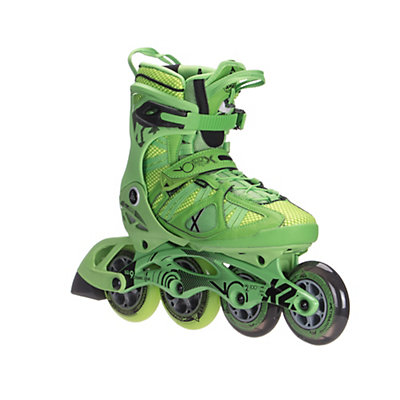 K2 VO2 100 X Pro Inline Skates, Green-Yellow, viewer