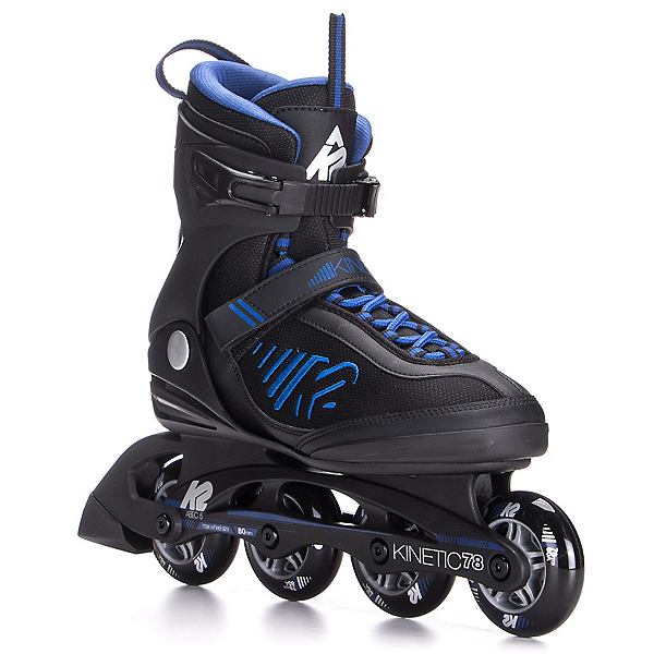 K2 Kinetic 78 Inline Skates 2017, Black-Blue, 600