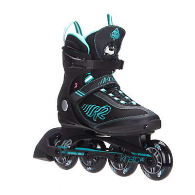 K2 Kinetic 80 Womens Inline Skates 2017, Black-Turquoise, viewer