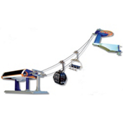 Model Ski Lifts Six-Seater, One Gondola Set 2016, Orange-Blue, medium