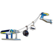Model Ski Lifts Six-Seater, One Gondola Set 2017, Blue-Yellow, medium