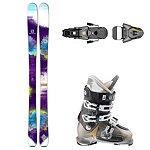 Salomon Q-83 Myriad, Atomic Waymaker, and Salomon STH 12 OS Womens Ski Package