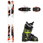 K2 Rictor 90 XTi, Atomic Waymaker Carbon 110X, and Salomon Warden Ski Package, , medium