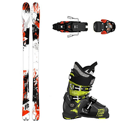 K2 Rictor 90 XTi, Atomic Waymaker Carbon 110X, and Salomon Warden Ski Package, , viewer