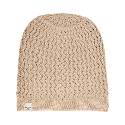 UGG Sequoia Solid Knit Womens Hat, Moonlight, viewer