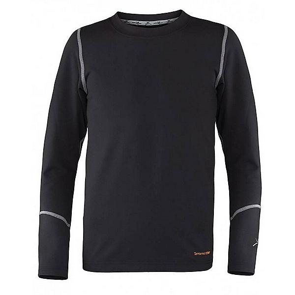 Terramar Thermolator Crew Kids Long Underwear Top, Black, 600