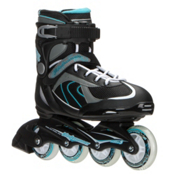 Bladerunner Pro 80 Womens Inline Skates, Black-Light Blue, medium