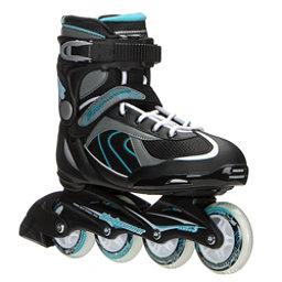 Bladerunner Pro 80 Womens Inline Skates, Black-Light Blue, 256