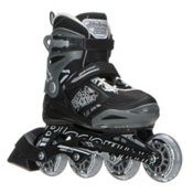 Bladerunner Phoenix Adjustable Kids Inline Skates 2017, Black-Silver, medium