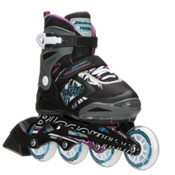 Bladerunner Phoenix Adjustable Girls Inline Skates 2016, Black-Purple, medium