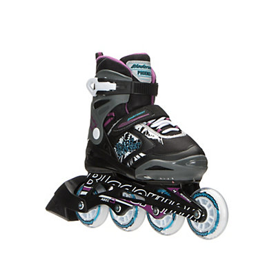 Bladerunner Phoenix Adjustable Girls Inline Skates 2016, Black-Purple, viewer