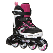 Rollerblade Spitfire XT Adjustable Girls Inline Skates 2017, Black-Pink, medium