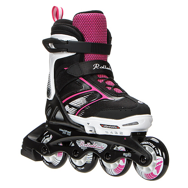 Rollerblade Spitfire XT Adjustable Girls Inline Skates 2017, Black-Pink, 600