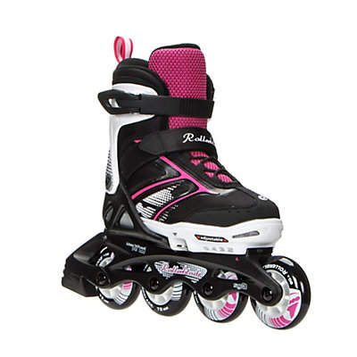 Rollerblade Spitfire XT Adjustable Girls Inline Skates 2017, Black-Pink, viewer