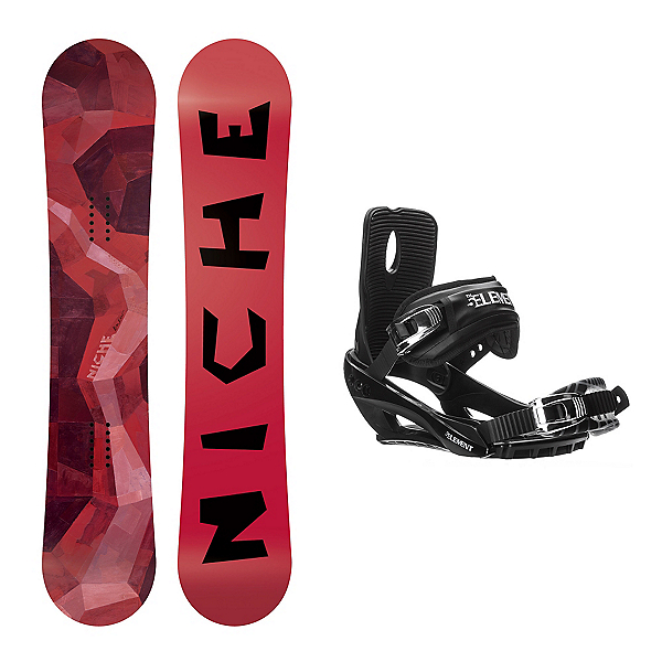 Niche Knew Stealth 3 Snowboard and Binding Package, , 600