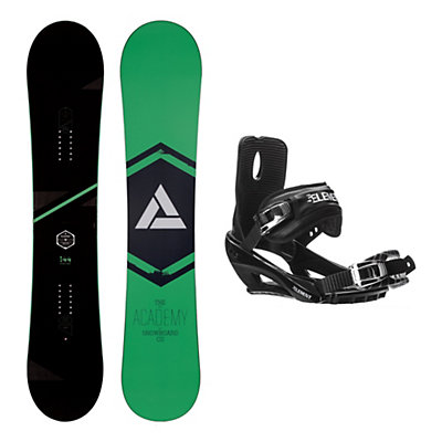 Academy Snowboards Icon Green Stealth 3 Snowboard and Binding Package, , viewer