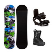 Firefly Explicit PMR Green Squirt Kids Complete Snowboard Package, , medium